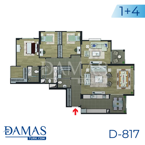 Damas Project D-817 in Istanbul - floor plan picture 03