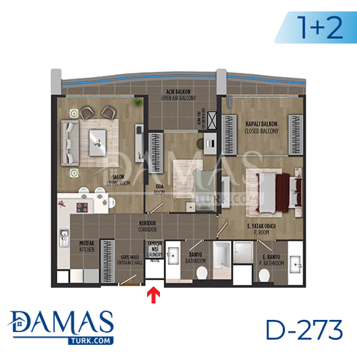 Damas Project D-273 in Istanbul - Floor plan picture 03