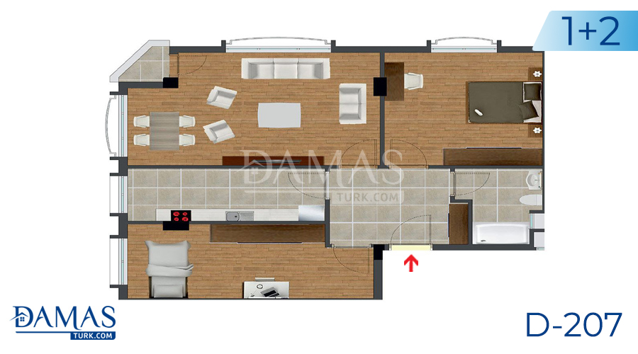 Damas Project D-207 in Istanbul - Floor plan picture  03
