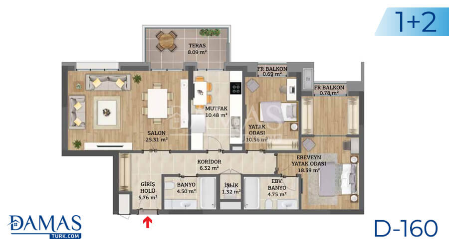 Damas Project D-160 in Istanbul - Floor plan picture 03