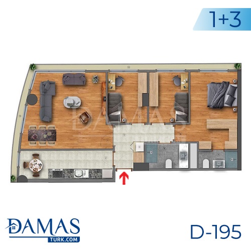 Damas Project D-195 in Istanbul - Floor plan picture  03
