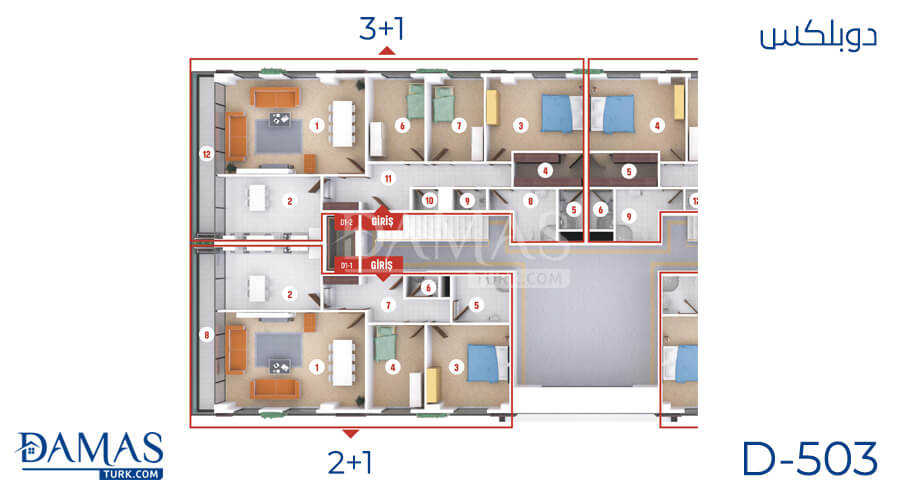 Damas Project D-503 in Kocaeli - Floor plan picture  03
