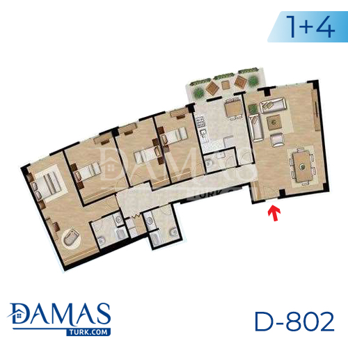 Damas Project D-802 in Istanbul - Floor plan picture 03