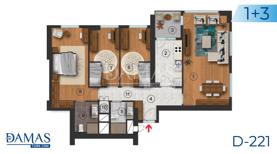 Damas Project D-217 in Istanbul - Floor plan picture  03