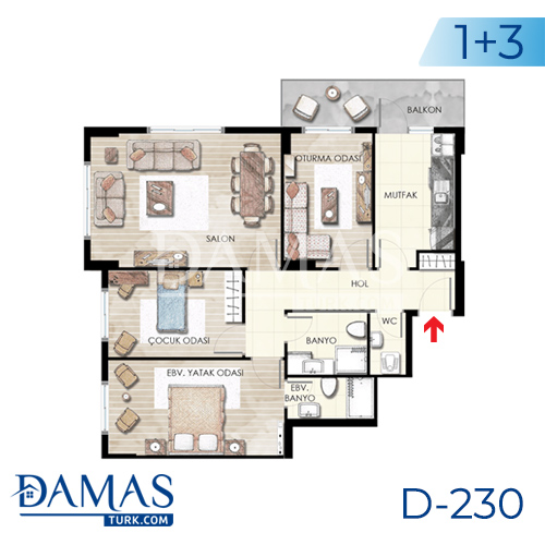 Damas Project D-230 in Istanbul - Floor plan picture  03