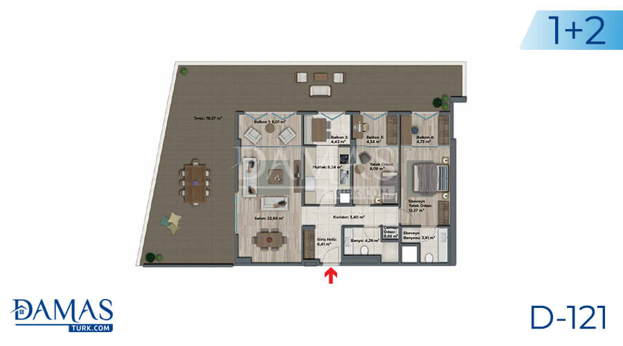 Damas Project D-121 in Istanbul - Floor plan picture 03