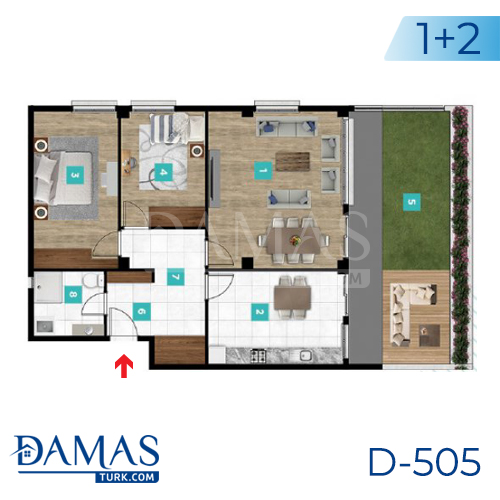 Damas Project D-505 in kocaeli - Floor plan picture  03