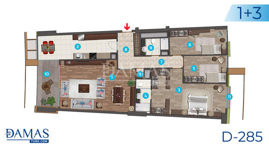 Damas Project D-285 in Istanbul - Floor plan picture 03