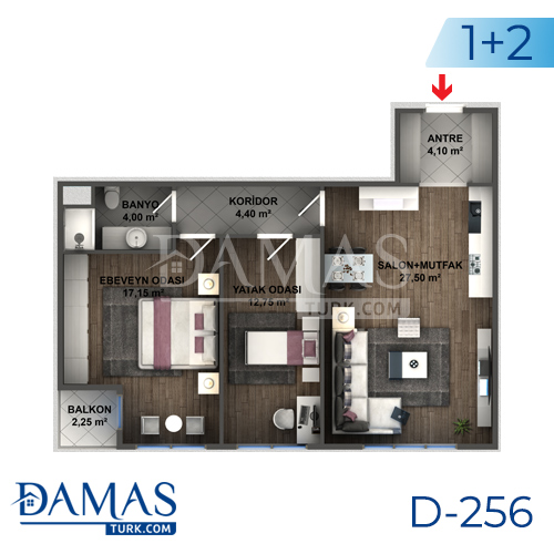 Damas Project D-256 in Istanbul - Floor plan picture 03