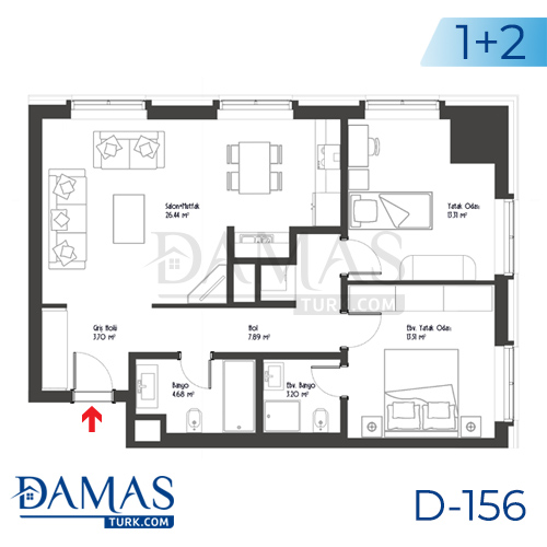 Damas Project D-156 in Istanbul - Floor plan picture 03