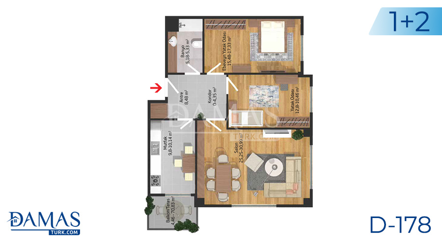 Damas Project D-178 in Istanbul - Floor plan picture  03