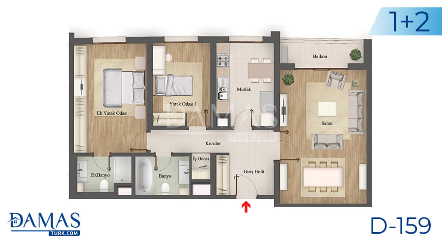 Damas Project D-159 in Istanbul - Floor plan picture 03