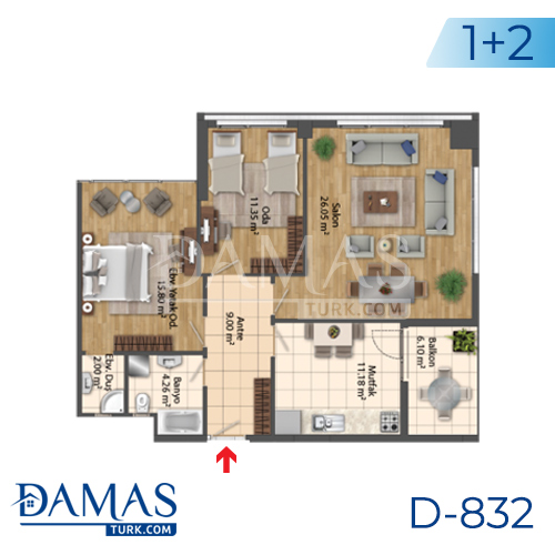 Damas Project D-832 in Istanbul - Floor Plan picture 03