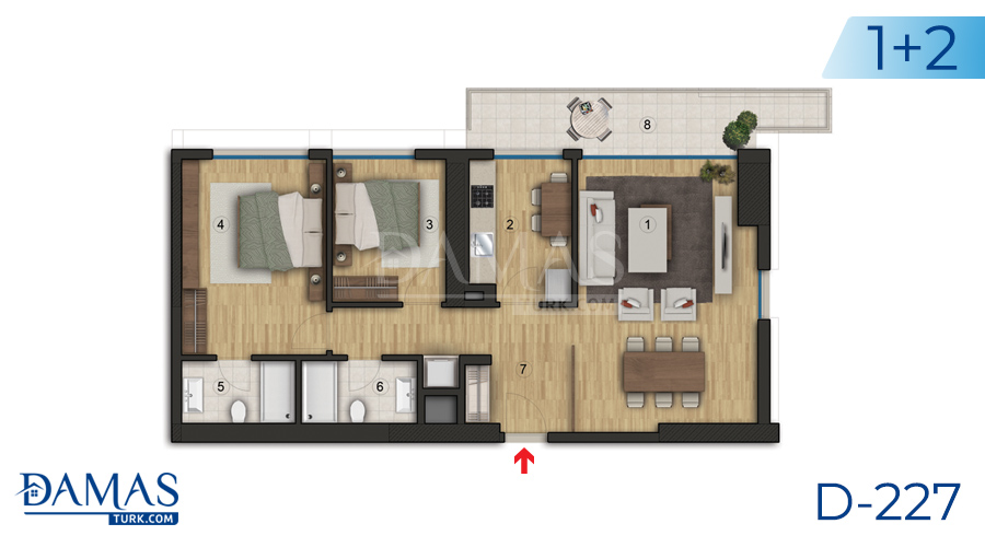 Damas Project D-227 in Istanbul - Floor plan picture  03