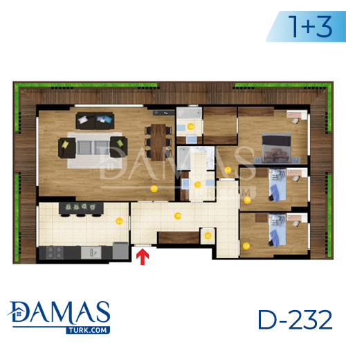 Damas Project D-232 in Istanbul - Floor Plan picture  03