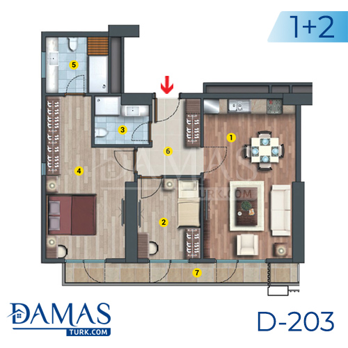 Damas Project D-203 in Istanbul - Floor plan picture  03