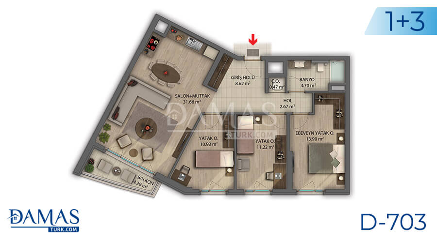Damas Project D-703 in Ankara - Floor plan picture 03