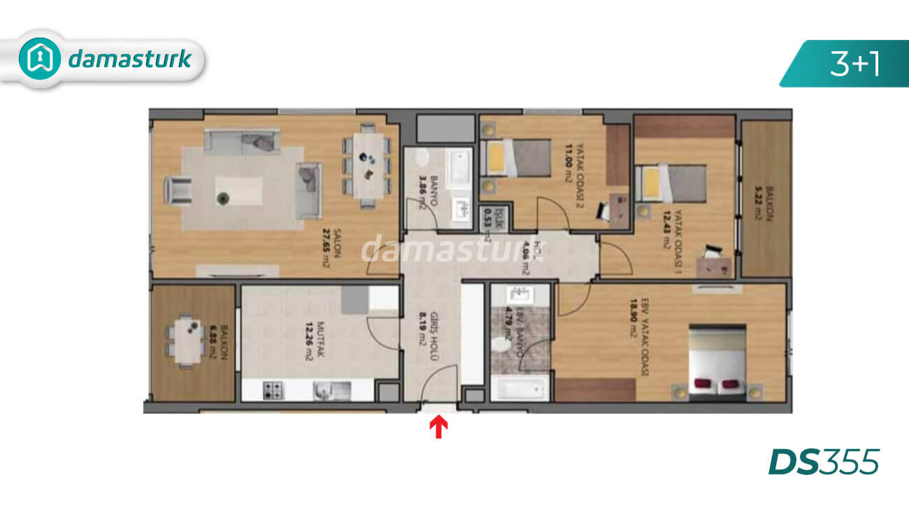 Apartments for sale in Turkey - Istanbul - the complex DS355 || damasturk Real Estate Company 03