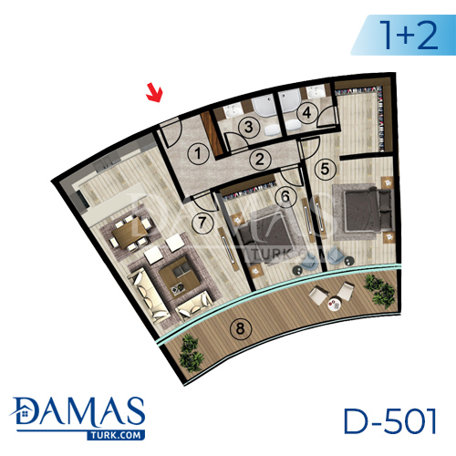 Damas Project D-501 in Kocaeli - Floor plan picture  03