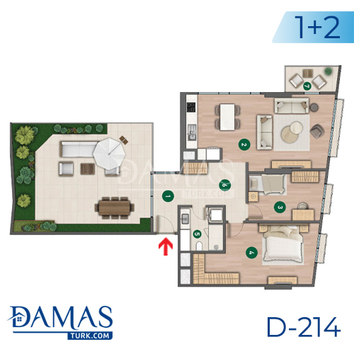 Damas Project D-214 in Istanbul - Floor plan picture  03