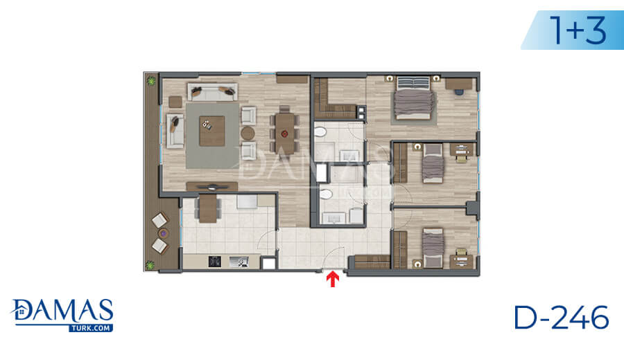 Damas Project D-246 in Istanbul - Floor plan picture 03