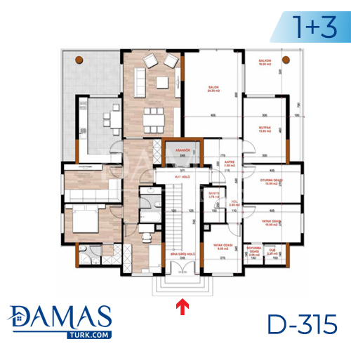 Damas Project D-315 in Bursa - Floor plan picture  03