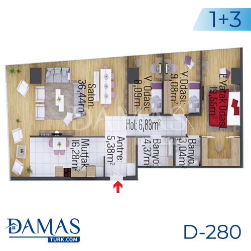 Damas Project D-280 in Istanbul - Floor plan picture 03