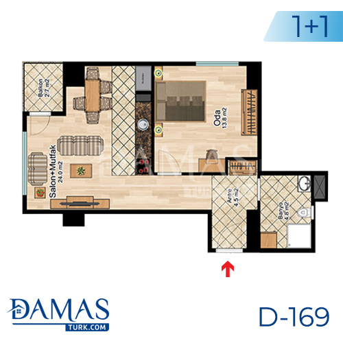 Damas Project D-169 in Istanbul -Floor plan picture  03