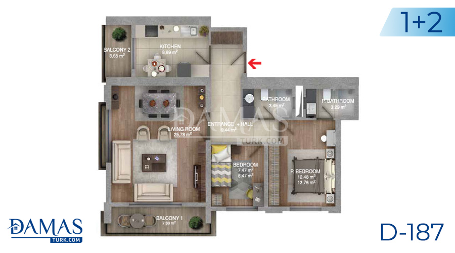 Damas Project D-187 in Istanbul - Floor plan picture  03