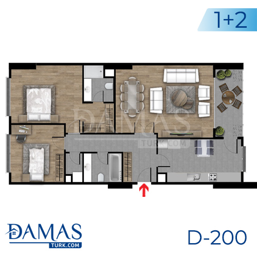 Damas Project D-200 in Istanbul - Floor plan picture  03