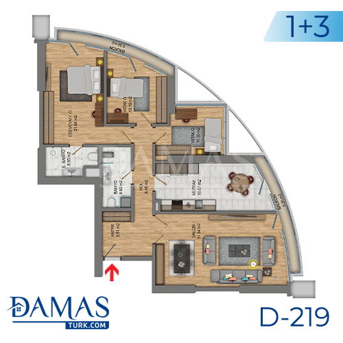 Damas Project D-219 in Istanbul - Floor plan picture  03