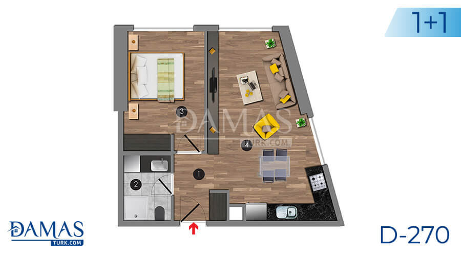 Damas Project D-270 in Istanbul - Floor plan picture 03