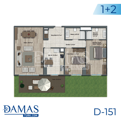 Damas Project D-151 in Istanbul - Floor plan picture 03