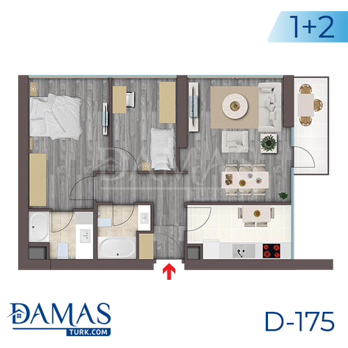 Damas Project D-175 in Istanbul - Floor plan picture  03