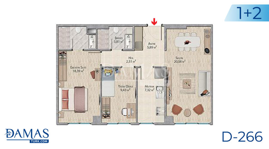 Damas Project D-266 in Istanbul - Floor plan picture 03