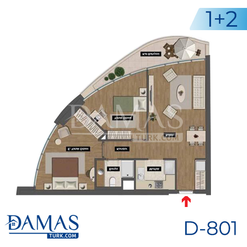 Damas Project D-801 in Istanbul - Floor plan picture 03