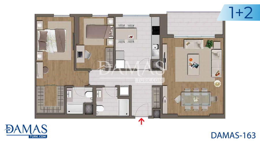 Damas Project D-163 in Istanbul - Floor plan picture 03
