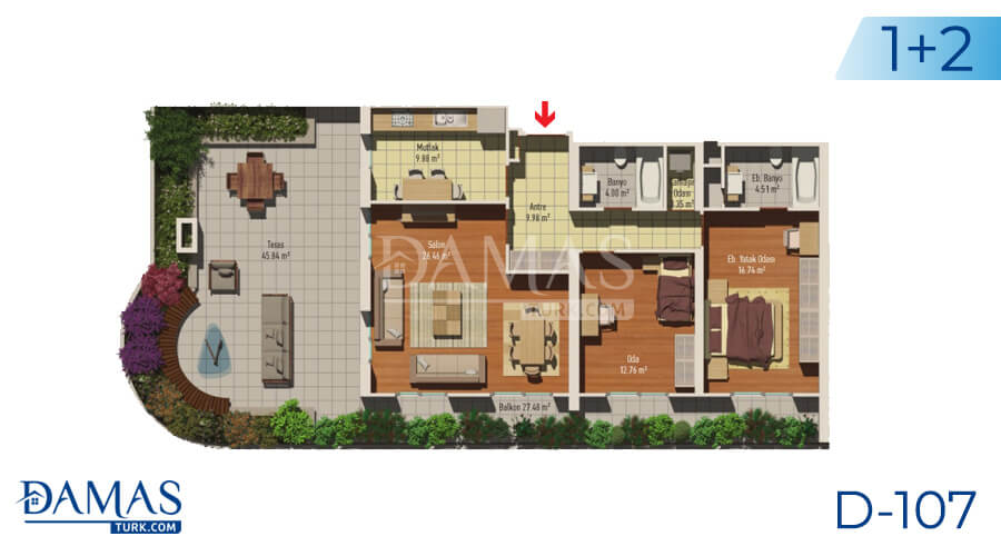 Damas Project D-107 in Istanbul - Floor plan picture 03
