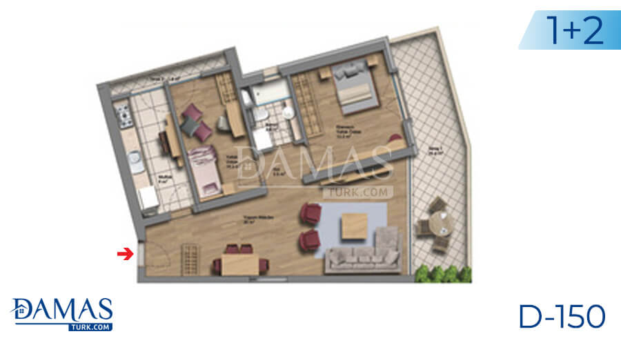 Damas Project D-150 in Istanbul - Floor plan picture 03