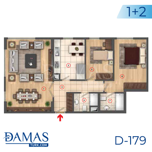 Damas Project D-179 in Istanbul - interior picture  03