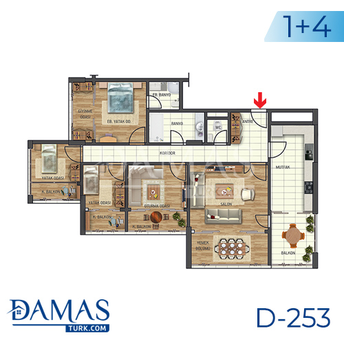 Damas Project D-253 in Istanbul - Floor plan picture 03