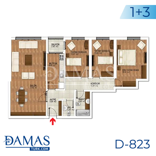 Damas Project D-823 in Istanbul - Floor plan picture 03