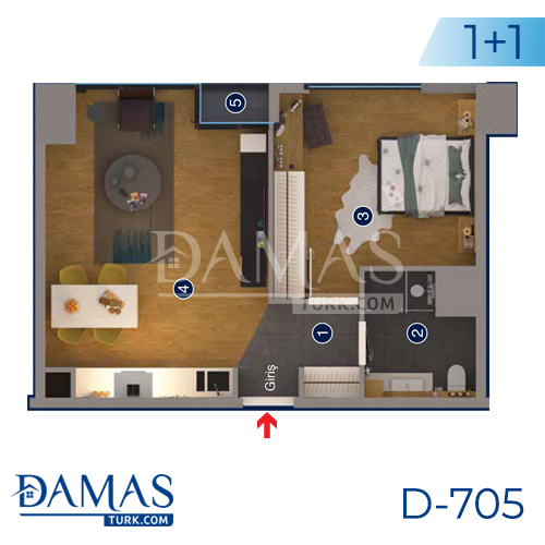 Damas Project D-705 in Ankara - Floor plan picture 03