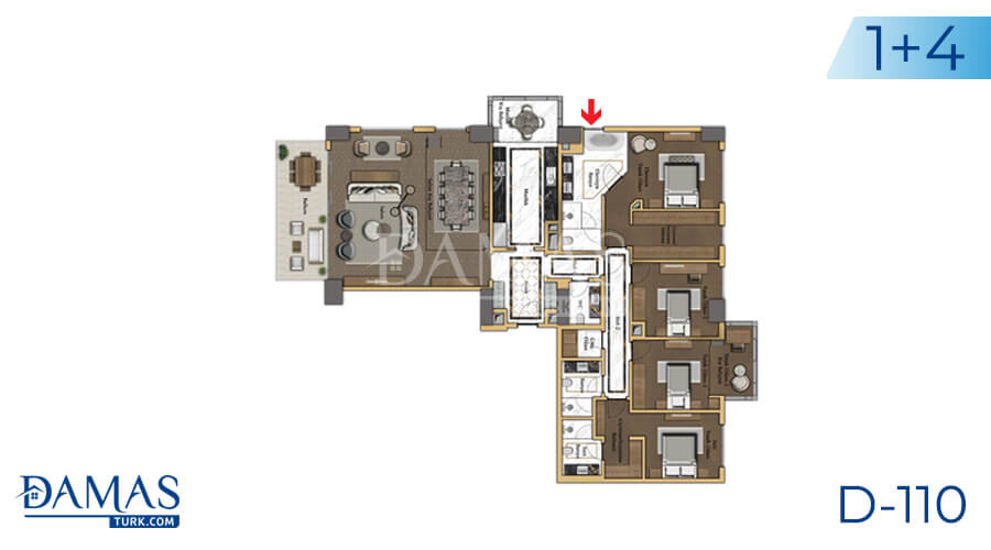 Damas Project D-110 in Istanbul - Floor plan picture 03