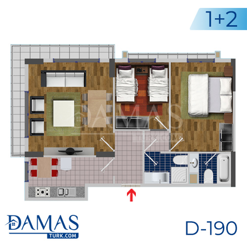 Damas Project D-190 in Istanbul - Floor plan picture  03