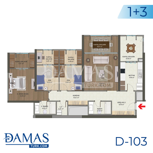 Damas Project D-103 in Istanbul - Floor plan picture 03