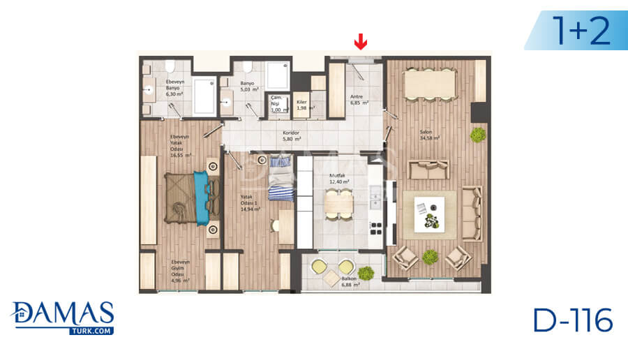 Damas Project D-116 in Istanbul - Floor plan picture 03