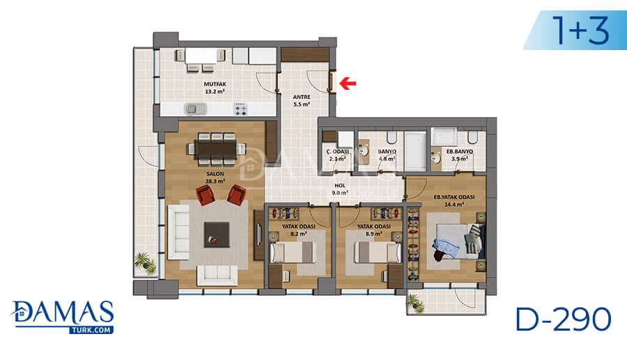 Damas Project D-290 in Istanbul - Floor plan picture 03
