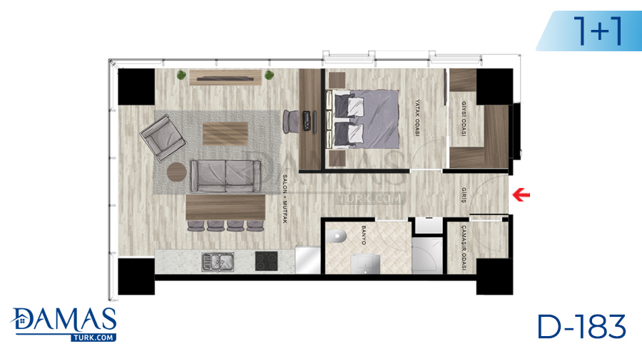 Damas Project D-183 in Istanbul - Floor plan picture  03