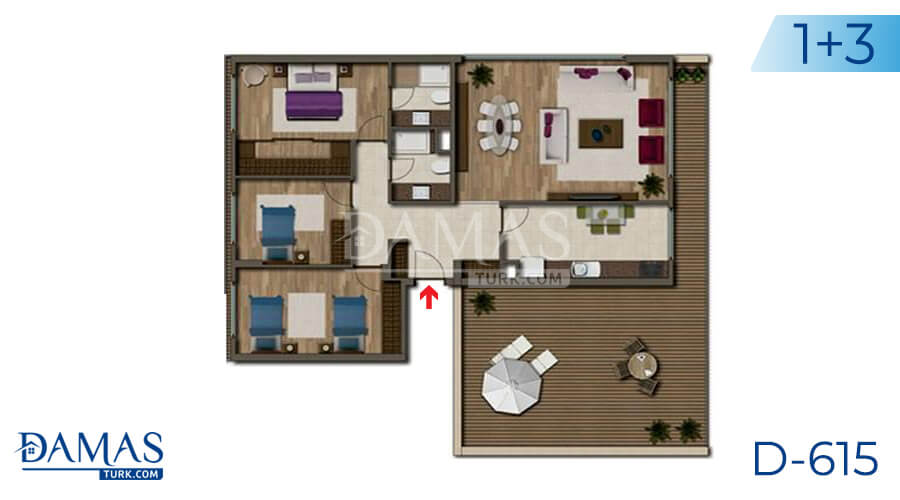 Damas Project D-615 in Antalya - Floor plan picture 03